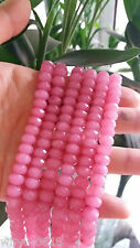 5x8mm Faceted Natural Pink Morganite Ruby Gemstone Jade Abacus Loose Beads 15''