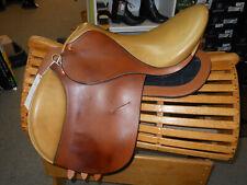 "Reactor Panel FoxHunter Saddle, 17.5"" Seat, Tabacco/Oak"