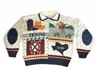 Vintage Sweater Loft Texas Pride Women's Sweater Rodeo Cowboy Texas State Size S
