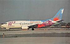 COLORADO SPRINGS Western Pacific B-737-300  Airplane Postcard