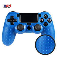 Blue Spot Pattern Convex Point Silicone Case Cover Gel Grip for PS4 Controller