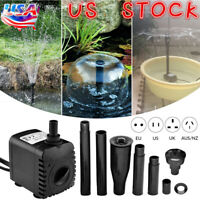 Submersible Water Feature Fountain Waterfall Pump Fish Tank Aquarium Pond Sump