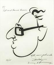 A Limited edition Caricature of Henry Kissinger autographed to Gov. Pat Brown
