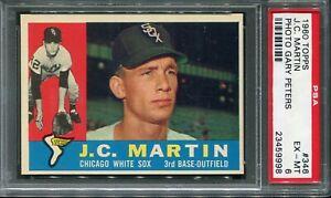 1960 Topps #346 J.C. Martin PSA 6 EX-MT