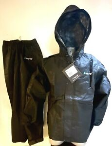 Frogg Toggs All Purpose Rain Suit Gear MENS Black Frog Sport LARGE Jacket & Pant