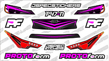 CUSTOM RC BODY HEADLIGHT GRILL STICKER DECAL SET PROTOFORM P47-N 1/10 PINK