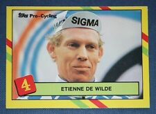Professional Cycling  De Wilde  1988 Sigma Team     Colour Card
