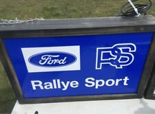 More details for illuminated sign ford motor rallye sport rs turbo cosworth sierra escort fiesta