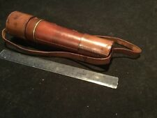 VINTAGE TELESCOPE BRASS BY BROADHURST CLARKSON & CO LONDON WITH LEATHER CASE