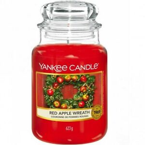 Yankee Candle Scented Candle, Red Apple Wreath - Large Jar Candle Christmas