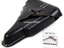 Germany WWII Walter P.38 Hard Shell Pistol Holster Black Leather
