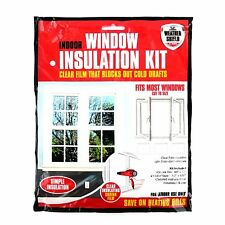 MTS Indoor Window Insulation Kit with Weather Shield Film, Cold Draft, Draught Excluder