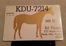 "HAM CB RADIO QSL Trading Card ""MR ED - HORSE - ED PLAZEK - NORTH HILLS, PA"""