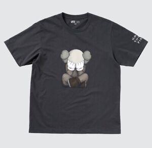 Kaws Tokyo First Exhibition x UNIQLO T-shirt DARK GREY Japanese Size S-4XL