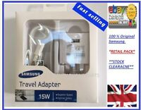 Samsung UK Adaptive Fast Charger & USB Galaxy S5 S6 S7 Edge Note 43 Original Box