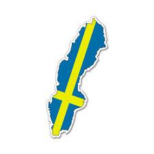 SWEDEN MAP SILHOUETTE FLAG VINYL CAR VAN IPAD LAPTOP STICKER