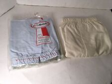Vtg Mens Manhattan Undershorts 34 100% Cotton new old stock Lot Of 3