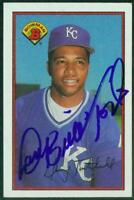 Original Autograph of Danny Tartabull of the KC Royals on a 1989 Bowman Card