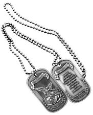 Saint Michael Key Chain / 2 Sided Dog Tag with Chain 2803