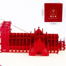 3D Pop Up Card Westminster Abbey Church Building Christ Thanksgiving Day Cards