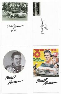 (1) David Pearson Signed 3x5 Index Card NASCAR Racing HOF