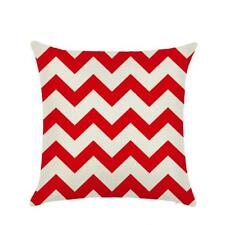 Linen Wave Stripe Print Cushion Cover Scatter Decorative Pillow Home Sofa Decor