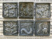Creepy Crawler Molds - Lot of 6 -Vintage! 1-1, 3-1, 4-1, 5-1, 8-1, 2-2