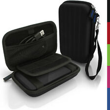 Black Hard Case Cover Pouch for Portable External Hard Drive 142 x 80.6 x 21.6mm
