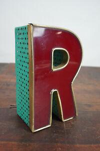 Metal Letter R Vintage Schausteller Leuchtbuchstabe Neon Sign 50er 3