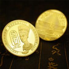 Egyptian Queen efertiti Ancient Egypt Pyramid Souvenir Collectible Coin GOLD US