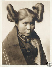 Edward S Curtis Native American USA Hopi 1922, 7x5 inch Reprint Photo