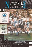 Football Programme - Newcastle Utd v Port Vale - Div 2 - 1991