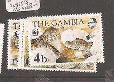 Gambia 1984 WWF Crocodile SC 515-8 MNH (7ccn)