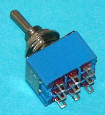 Miniature 3Pdt Center Off Toggle Switch On-Off-On M303 Package of 15 M303-15