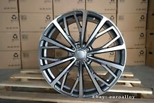 New 4x 20 inch 5x112 ET39 Rims Fits AUDI A6 Grey Polished Alloy Car Wheels