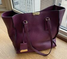 Burberry Heritage Leather Tote, Pebbled Grain