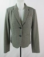 Calvin Klein Women's Beige & Black 2 Button Blazer Jacket No Size Tag