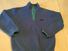 PATAGONIA SYNCHILLA MADE USA FLEECE WOMEN'S 10 1/4 snap pullover sweater jacket