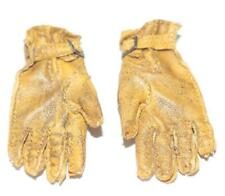 DID DONALD US ARMY WW 2 TANKER LEATHER GLOVES TOY FOR 12 IN FIG MINT
