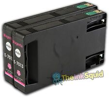 2 Magenta T7013 non-OEM Ink Cartridge For Epson Pro WP-4545DTWF WP-4595DNF