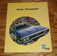 Original 1971 Chrysler Plymouth Full Line Sales Brochure 71 Barracuda Satellite