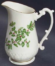 Lenox Holiday Christmas Holly and Berries Pitcher 32 oz