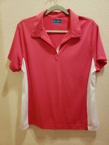 BEN HOGAN PERFORMANCE GOLF COLLECTION Size XL Pink White Short Sleeved Top