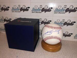 XANDER BOGAERTS SIGNED AUTOGRAPHED MLB FANATICS RAWLINGS OML BASEBALL-RED SOX