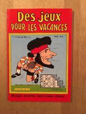 Des jeux pour les vacances - Sagédition - 1982 - NEUF
