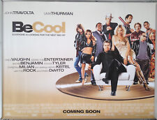 Cinema Poster: BE COOL 2005 (Quad) John Travolta Uma Thurman Steve Tyler