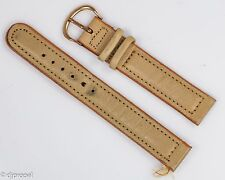 Original Vintage Bulova Calfskin Stitched Watchband w/Gold Filled Buckle! 5/8""