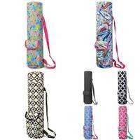 Lightweight Durable Full-Zip Yoga Mat Gym Sports Bag w/Pocket & Shoulder Strap