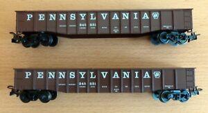"Märklin H0 2 US Gondola ""PENNSYLVANIA"" aus USA Güterwagen-Set 2 (4863), neu"