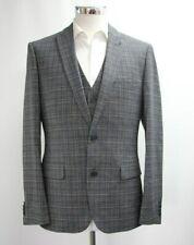Men's Unbranded, Dark Grey Checked 3pc Suit (40R).. Sample 3764